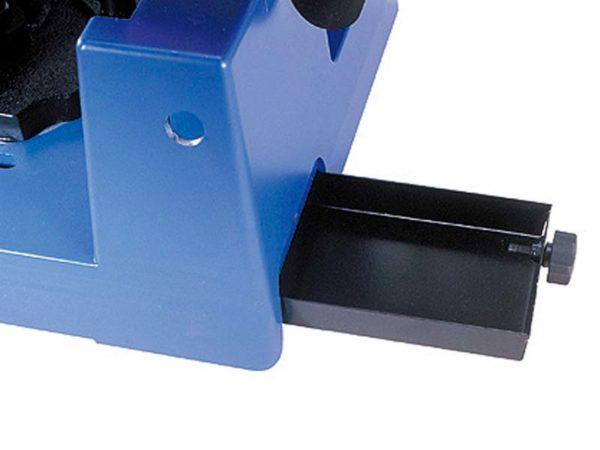 Kotoučová pila na kov AGP DRC355 - zásobník na třísky
