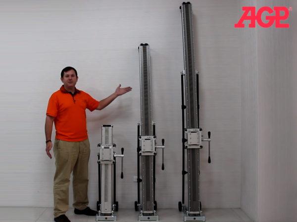 Prodloužené sloupky pro stojan na vrtačku AGP S800