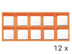 Karbidové břitové destičky rovné 12x (EB24R)
